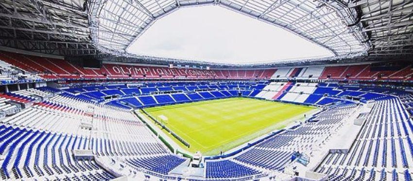 El Parc Olympique Lyonnais será uno de los estadios que acojan la Eurocopa. Foto: @uefaeuro.