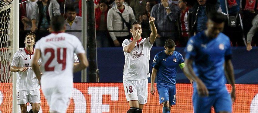 Sergio Escudero le dedicó el gol a su mujer y a su hijo, que está en camino. Foto: Twitter.