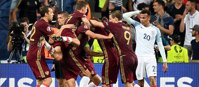 Rusia celebra un gol marcado a Inglaterra | Foto: @England