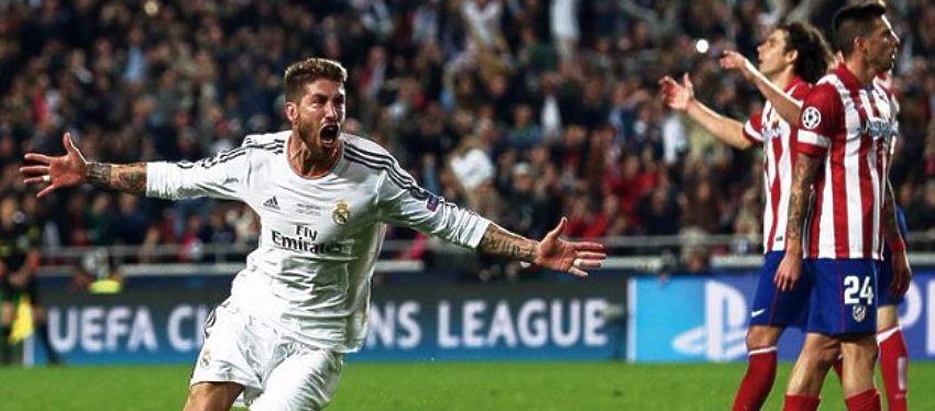 Ramos celebra el empate en la final de Champions de hace dos años. Foto: @BBVAworld.