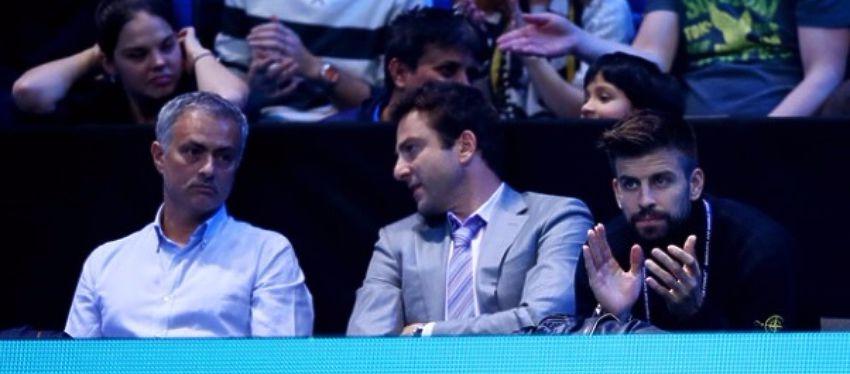 Piqué y Mourinho estuvieron a tan solo un asiento de distancia en el O2 de Londres.