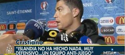 Cristiano Ronaldo despues del partido | Foto: @SDeislandia