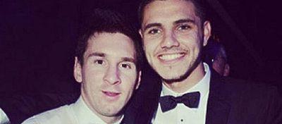 Icardi posa con Messi en una foto publicada en su cuenta de Instagram. Foto: Instagram.