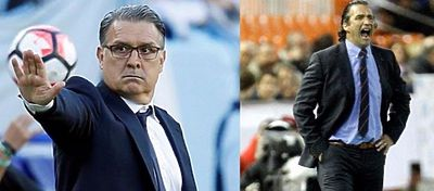 Tata Martino y Pizzi : @ Foto: Youtube
