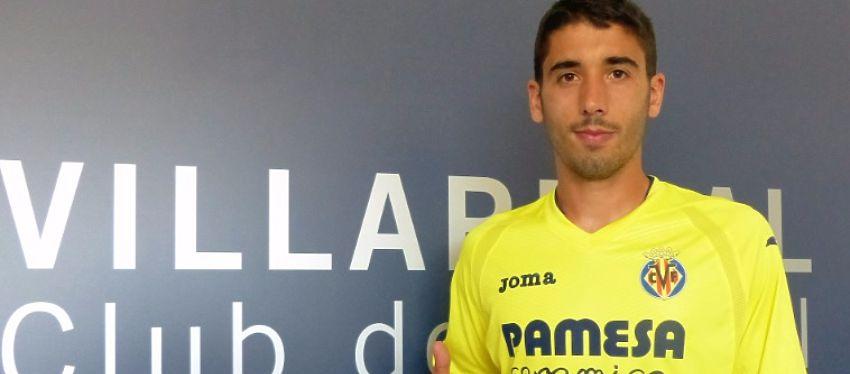 José Ángel, en su presentación con el Villarreal. Foto: Villarreal CF.