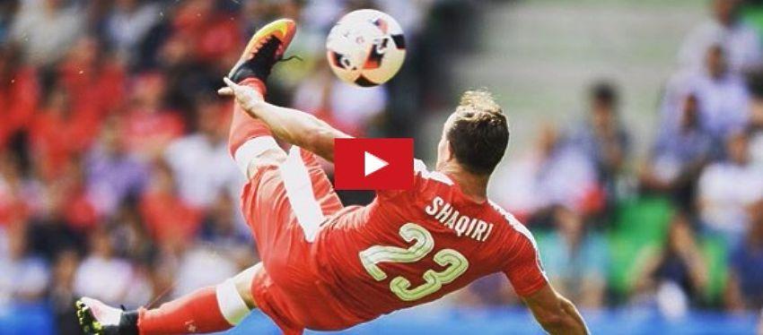 Shaqiri marca el gol de la Eurocopa