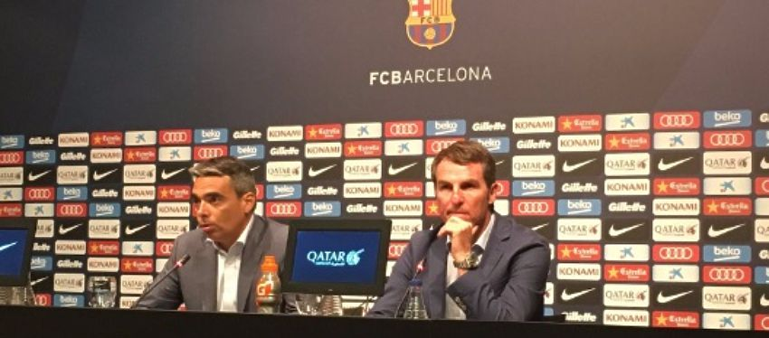 Albert Soler y Robert Fernández, en rueda de prensa. Foto: Twitter.