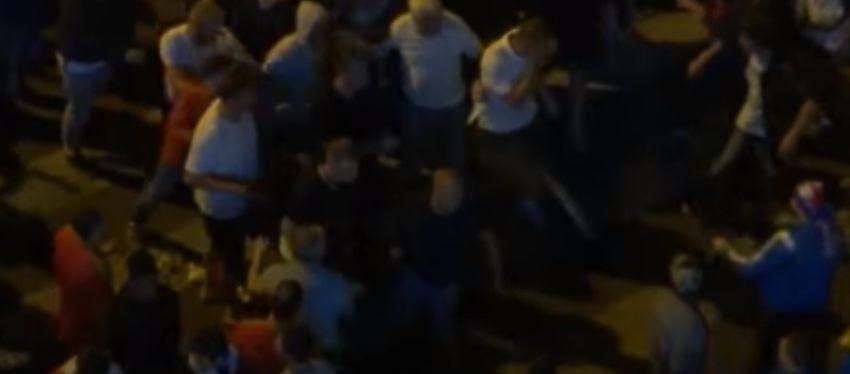 Imagenes de los altercados en Lille