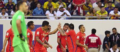 Chile celebra un gol | Foto: @LaRoja