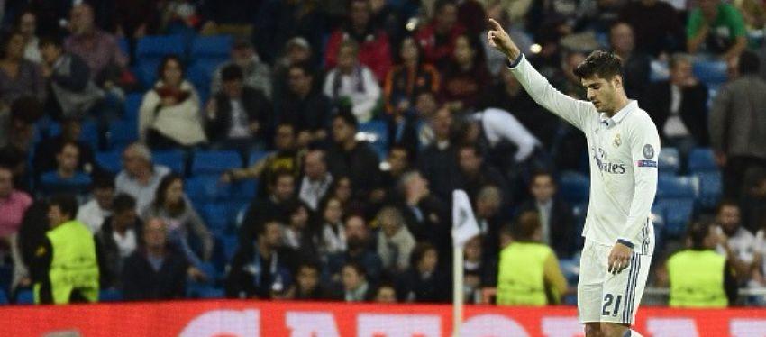 Morata, pese a su papel secundario, sigue estando entre los mejores del Madrid. Foto: @realesparta.