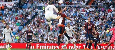 Gareth Bale anota el 1-1 en el partido ante el Eibar. Foto: Real Madrid.