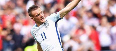 Jamie Vardy celebra el empate de Inglaterra ante la selección galesa. Foto: Instagram.