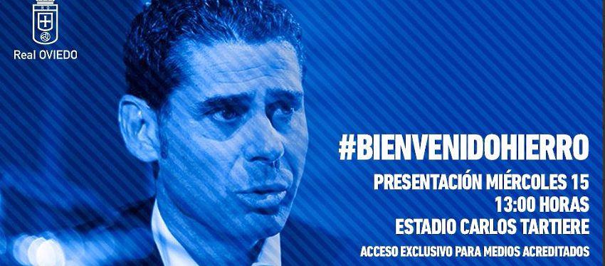 Cartel Presentación Fernando Hierro | Foto: @RealOviedo