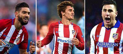 Carrasco, Griezmann y Giménez serían los tres grandes objetivos de Mourinho.