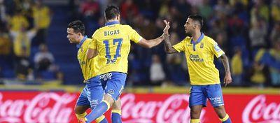 Las Palmas protagonizó una de las remontadas de la jornada ante el Celta. Foto: LaLiga.