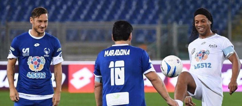 Totti, Maradona o Ronaldinho fueron algunos de los invitados. Foto: @lanacion.