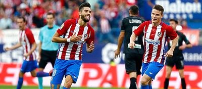 Yannick Carrasco celebra su gol ante el Granada. Foto: Twitter.