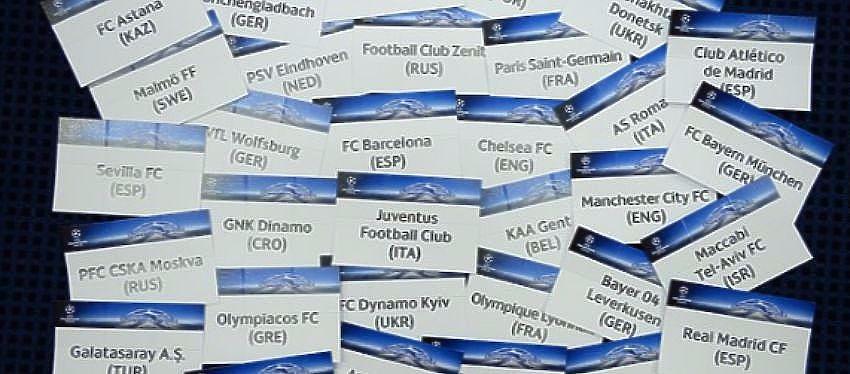 Papeletas sorteo Champions League | Foto: UEFA