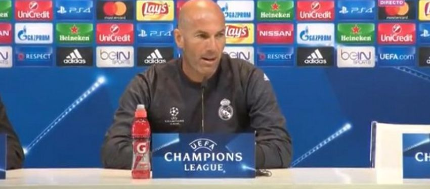 Zidane, en rueda de prensa. Foto: RealMadrid TV.