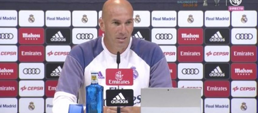 Zidane, en rueda de prensa. Foto: Real Madrid TV.