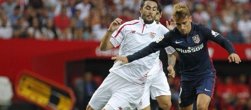 Sevilla y Atlético se disputarán el liderato en uno de los duelos de la jornada. Foto: Twitter.