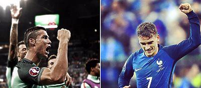 Cristiano Ronaldo y Antoine Griezmann volverán a verse las caras en una final un mes y medio después. Foto: @uefaeuro.