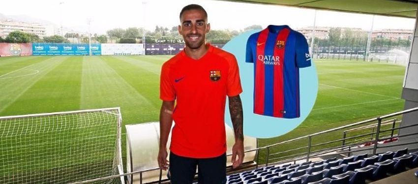 La imagen que el FC Barcelona publicó en su web antes de que el fichaje fuera oficial. Foto: Twitter.