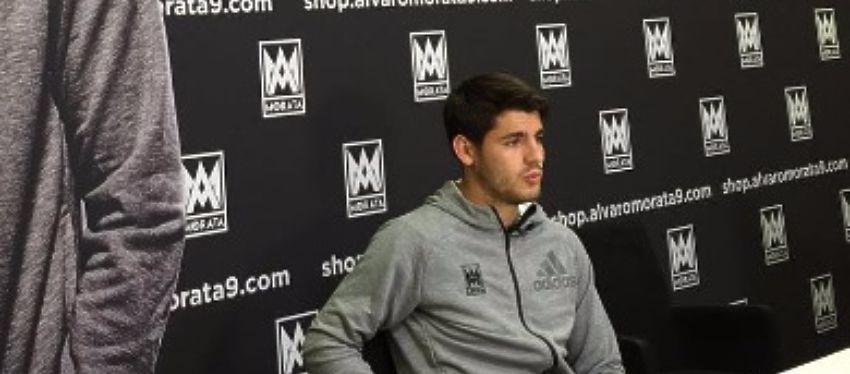 Álvaro Morata presenta su página web oficial el pasado viernes. Foto: Instagram.