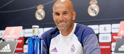 Zidane, en rueda de prensa. Foto: Real Madrid.