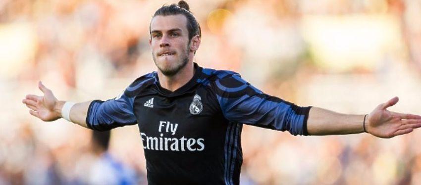 Gareth Bale celebra su primer gol de la temporada con el Real Madrid. Foto: Twitter.