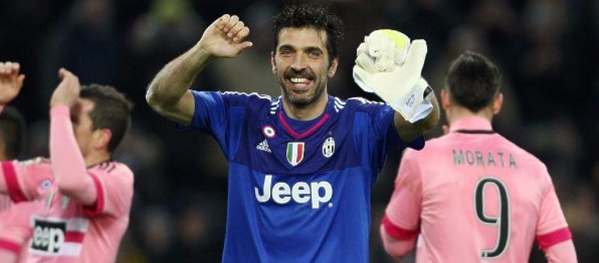 Buffon celebra una de las victorias de la Juventus. Foto: Instagram.