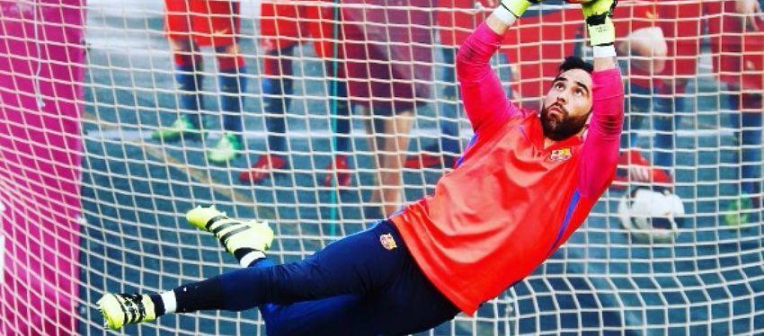 Claudio Bravo, en un entrenamiento con el FC Barcelona. Foto: Instagram.