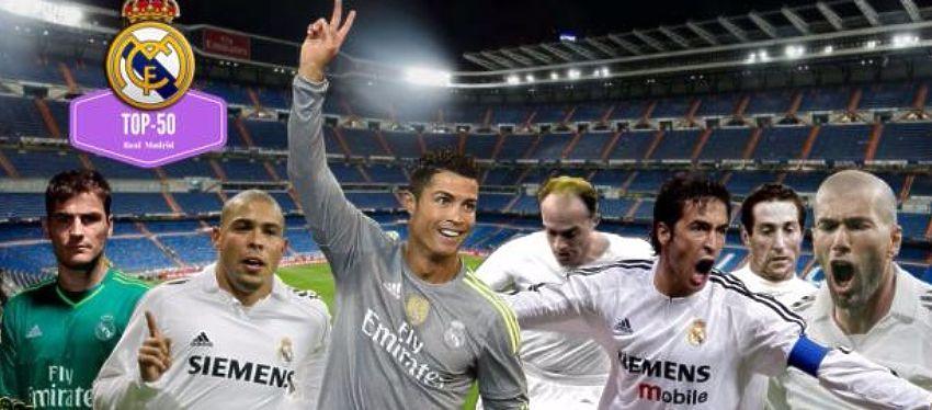 Raúl, Ronaldo, Cristiano o Zidane son algunos de los nombres que copan la clasificación. Foto: Twitter.