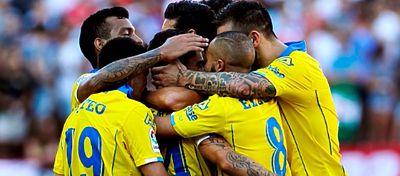 Las Palmas, con su victoria frente al Málaga, volvió a ser uno de los protagonistas de la jornada. Foto: @bet365_es.