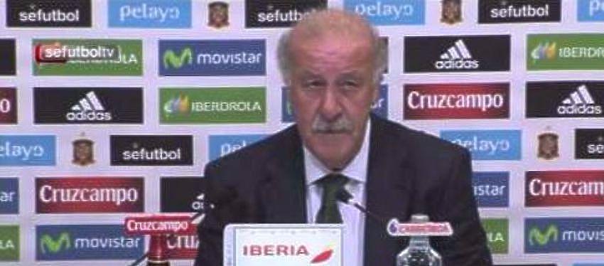 Vicente Del Bosque durante una rueda de Prensa - Foto: Twitter