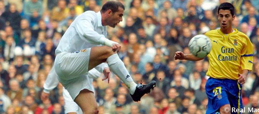 Zidane guarda un buen recuerdo de su última visita a Gran Canaria como jugador. Foto: Real Madrid.