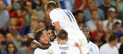 Leicester celebrando un gol | Foto: @LCFC