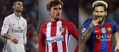 Cristiano Ronaldo, Griezmann y Bale son tres de los primeros diez nominados al Balón de Oro. Foto: RTVE.