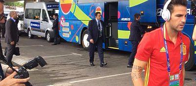 La Selección Española a la llegada al Estadio de Tolouse | Foto. Twitter