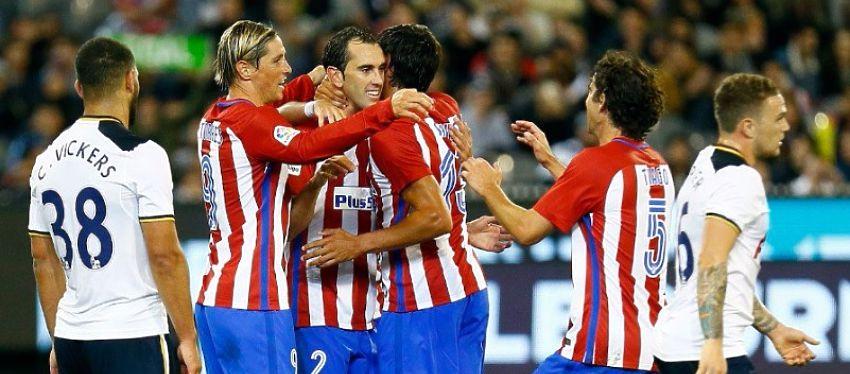 El gol de Godín tras una falta botada por Gabi fue suficiente para lograr la victoria. Foto: Twitter.