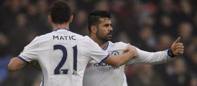 Diego Costa atraviesa un gran momento de forma en el Chelsea y acumula 13 goles. Foto: Marca.