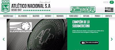 A través de un comunicado en su web, el Atlético Nacional solicita que el campeón sea el Chapecoense.