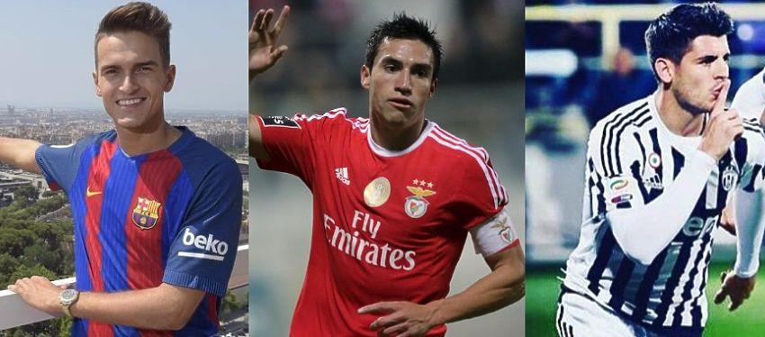 Denis Suárez, Nicolás Gaitán y Álvaro Morata son, hasta ahora, los nombres propios de Barça, Atlético y Madrid en el mercado. Foto: Instagram.