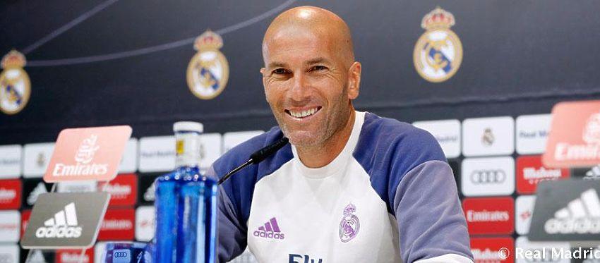 Zidane, en rueda de prensa. Foto: Twitter.