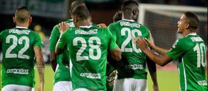 Los jugadores del Atlético Nacional de Medellín celebran un gol | Foto: @Nacionaloficial