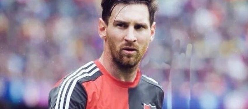 Messi, con la camiseta de Newell's Old Boys. Foto: Twitter.