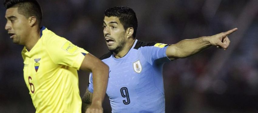 Luis Suárez, el pasado jueves en el partido ante Ecuador. Foto: Twitter.