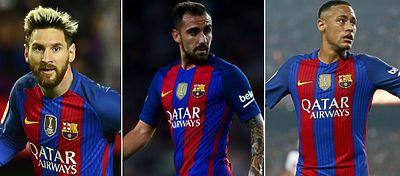 Messi, Alcácer y Neymar formarán el tridente del Barça ante el Málaga.