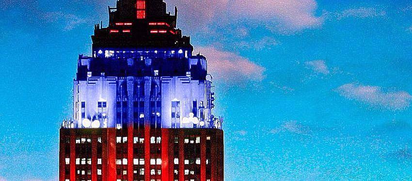 Así lucirá el emblemático edificio de Manhattan. Foto: Twitter.