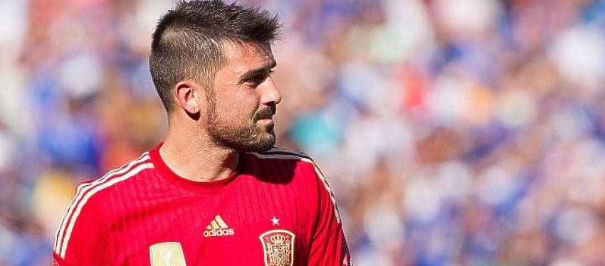David Villa, en un partido con España. Foto: @elchiringuitotv.